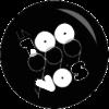 Logo La 100 Blanco y Negro
